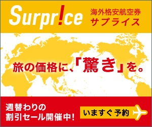 【サプライス】海外格安航空券・海外ツアー(航空券+ホテル)