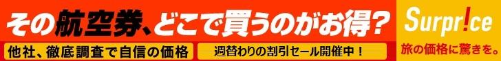 【サプライス】海外格安航空券予約・ネット予約