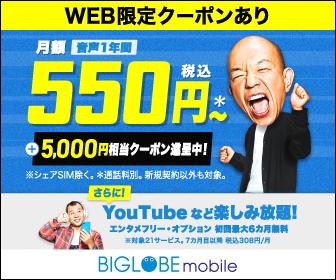 【スマホ】月額料金が6ヶ月400円!&初月無料!YouTubeなどが6ヶ月通信量ノーカウントで使い放題!端末12,000円相当ポイント還元と超お得!【格安SIM】オススメ