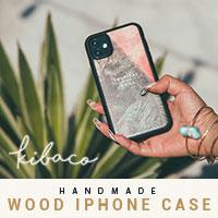 ハンドメイドのウッドiPhoneケース【KIBACOWORKS】